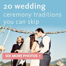 20 wedding ceremony traditions you can skip