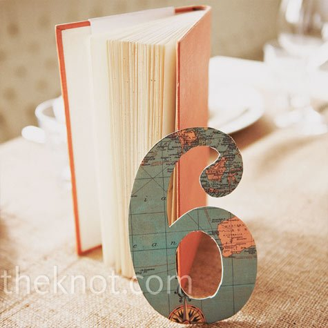 travel-themed table numbers