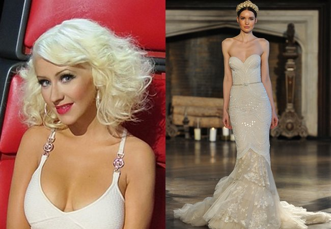 christina aguilera wedding pictures and flowers