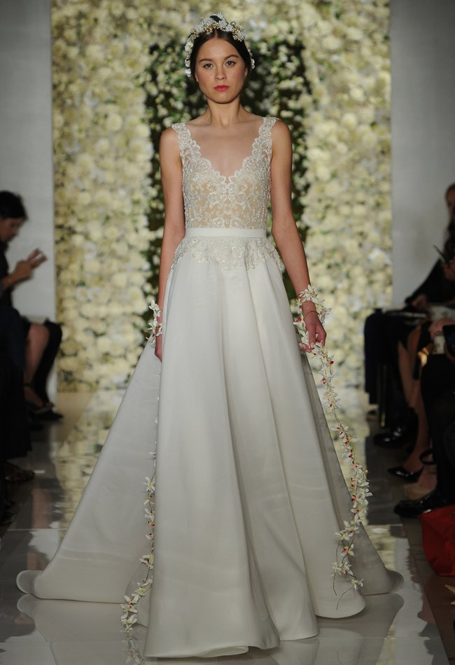 reem acra bridal fashion week fall 2015 wedding dress wedding