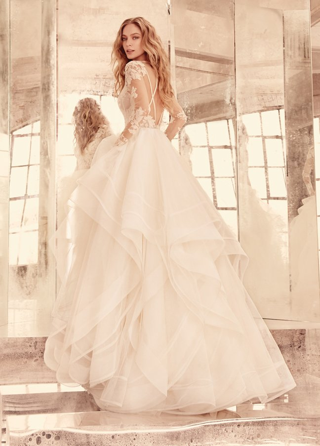 hayley-paige-bridal-long-sleeve-lace-v-bateau-illusion-keyhole-piping-cascading-tulle-double-horsehair-6556_zm